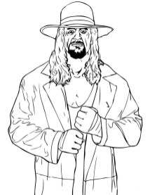 Printable wwe coloring pages undertaker - 37841