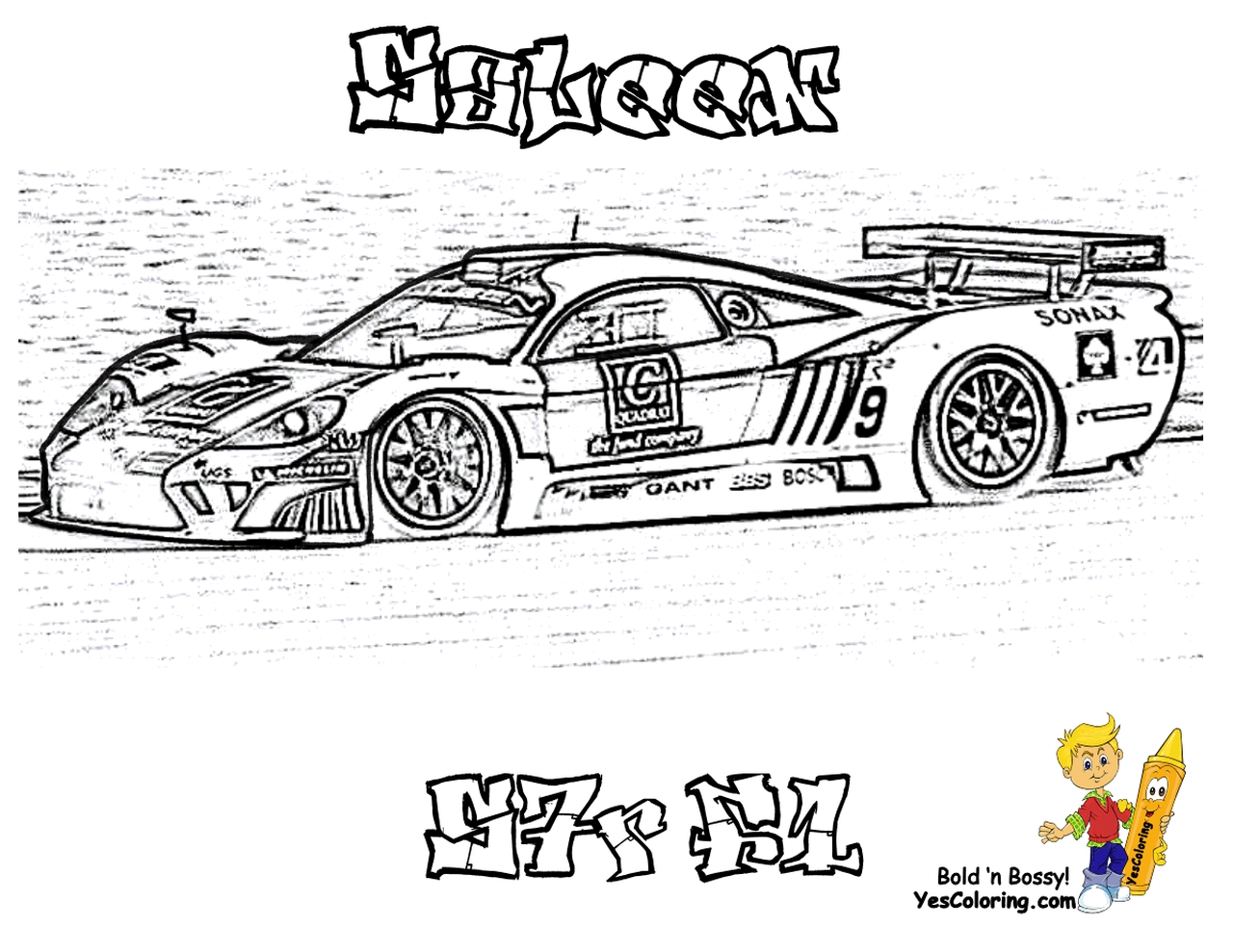 Get This Saleen Nascar Racing Car Coloring Pages For Boys 45619
