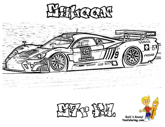 Saleen Nascar racing car coloring pages for boys - 45619
