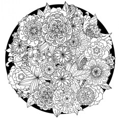 Abstract Coloring Pages to Print for Grown Ups 08941