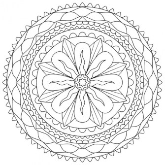Abstract Coloring Pages to Print for Grown Ups 13782