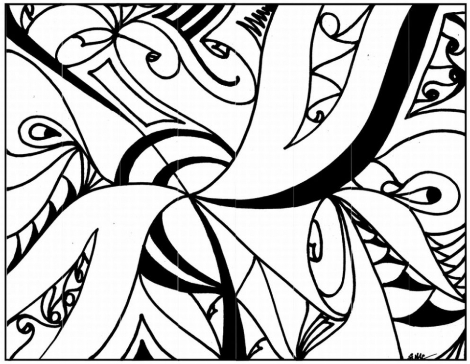 Abstract Coloring Pages to Print for Grown Ups   94128