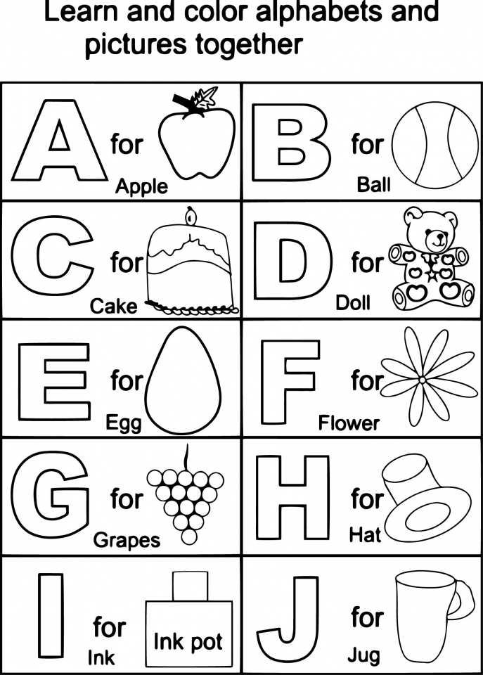 Alphabet Coloring Pages for Kids   16472