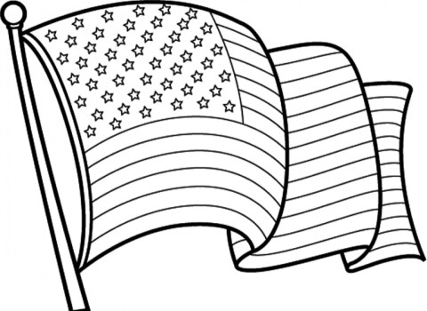 American Flag Coloring Pages to Print for Kids 46159