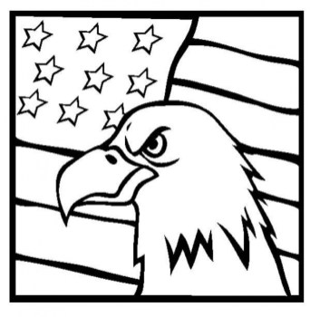 American Flag Coloring Pages to Print for Kids 91846