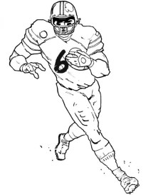 American Football Player Coloring Pages to Print Out 53821