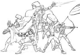 Avengers Coloring Pages Marvel Superheroes Printable 78631