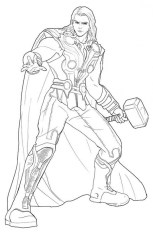 Avengers Coloring Pages Thor Online Printable 85931