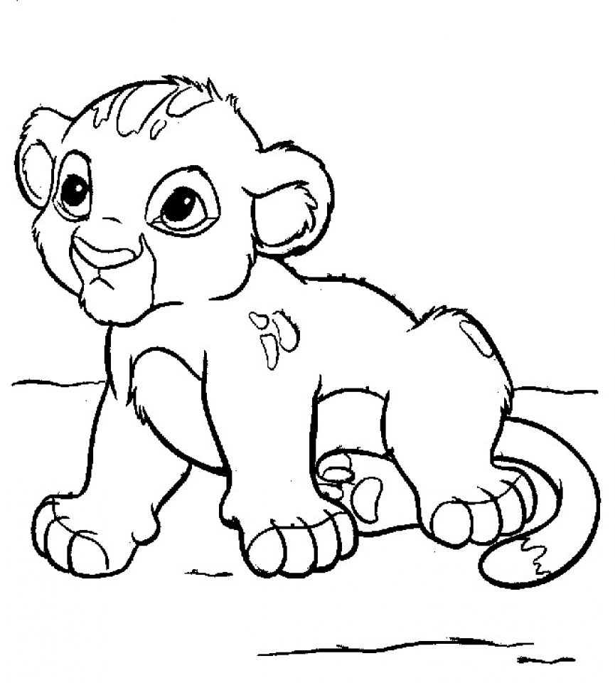 Baby Lion Coloring Pages for Kids   67424
