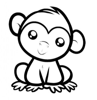 Baby Monkey Coloring Pages 56210
