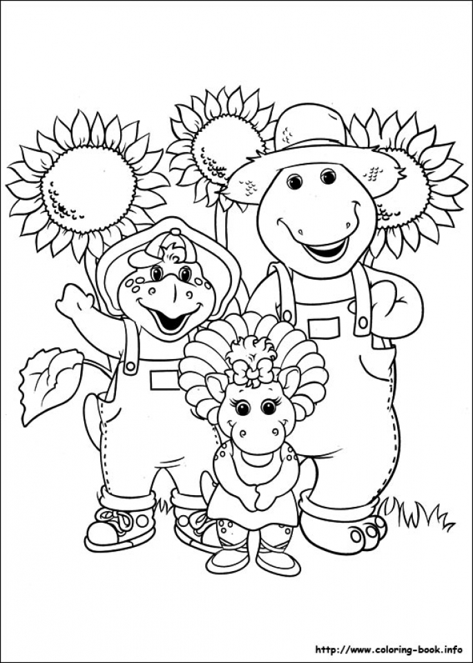 Barney Coloring Pages Printable for Kids   11732