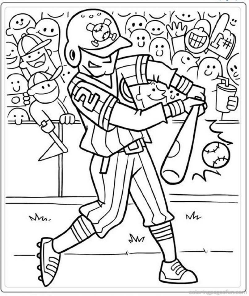 Baseball Coloring Pages Kids Printable   63551