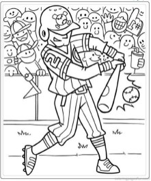 Baseball Coloring Pages Kids Printable 63551