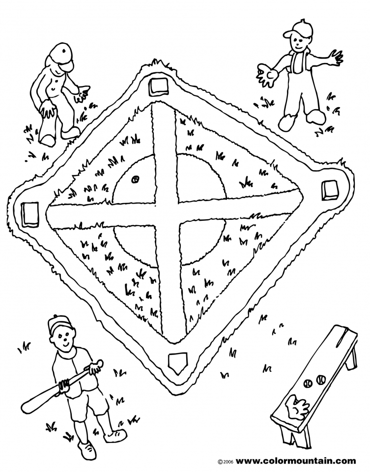 Baseball Field Coloring Pages for Kids   61429