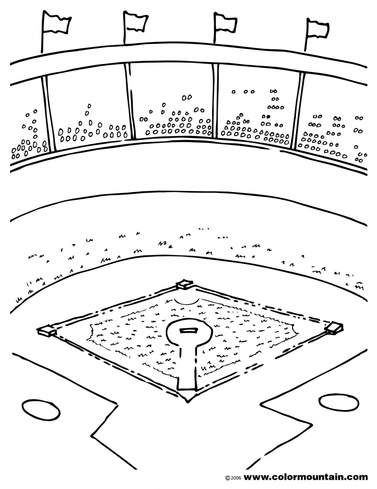 Baseball Field Coloring Pages Printable   85732