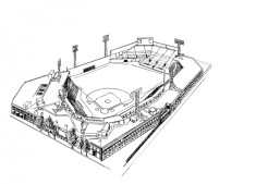 Baseball Field Coloring Pages to Print 84628