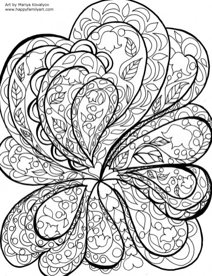 Beautiful Abstract Coloring Pages Printable for Grown Ups 18752