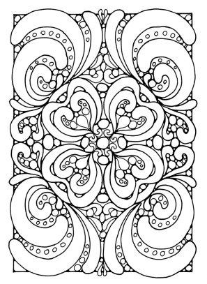 Beautiful Abstract Coloring Pages Printable for Grown Ups 29813