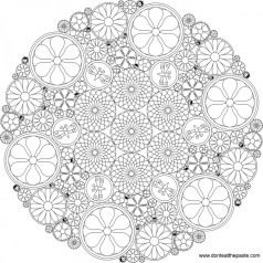 Beautiful Abstract Coloring Pages Printable for Grown Ups 67312