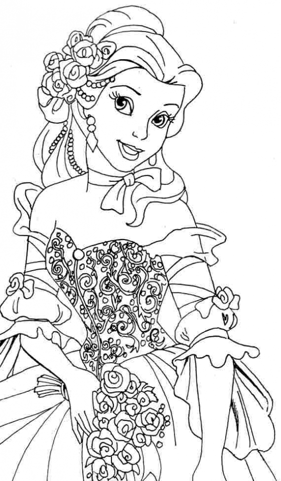 Get This Belle Coloring Pages Disney Princess for Girls ...