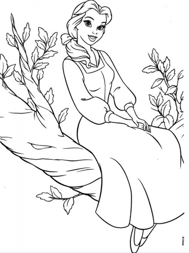 Get This Belle Disney Princess Coloring Pages Printable ...