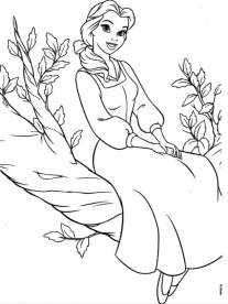 Belle Disney Princess Coloring Pages Printable 64528
