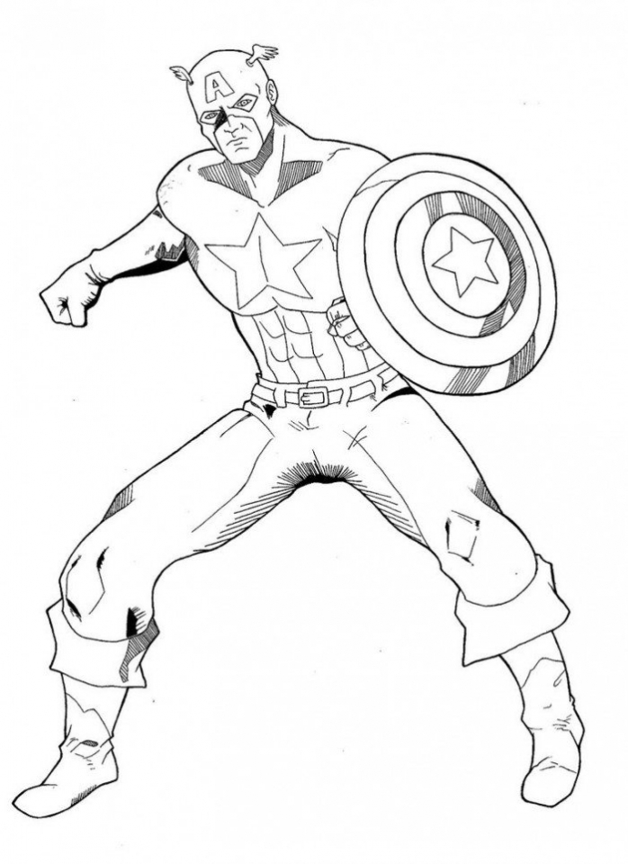 Captain America Coloring Pages Avengers Printable   33617