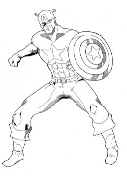 Captain America Coloring Pages for Teenage Boys 31862