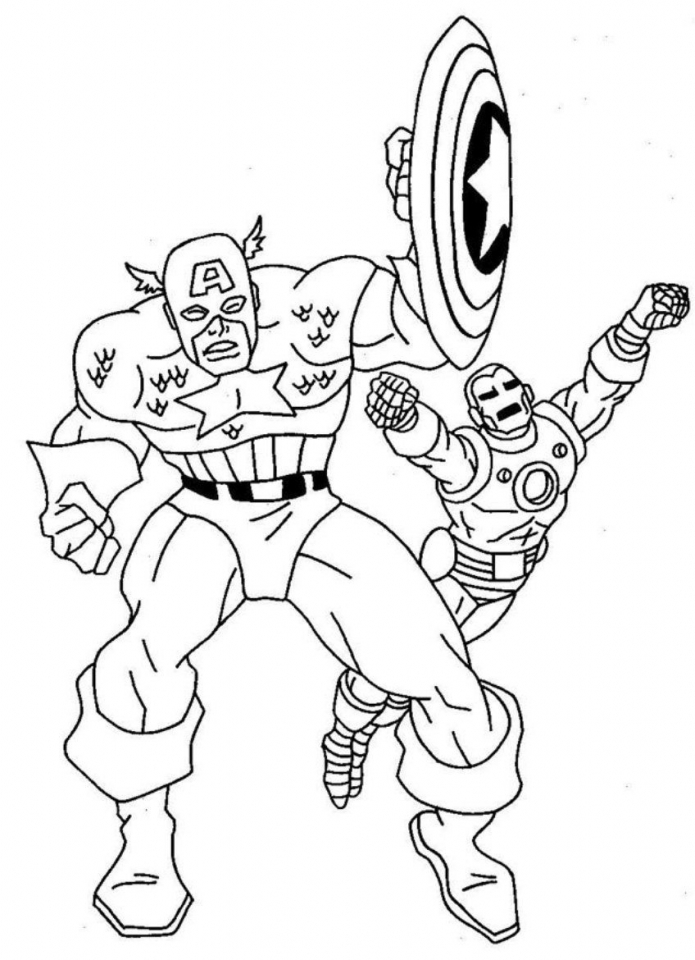 Captain America Coloring Pages Marvel Avengers   95735