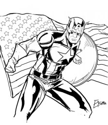 Captain America Coloring Pages Marvel Superhero 31624
