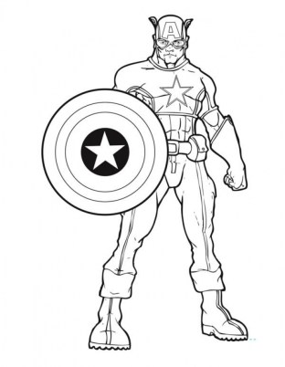 Captain America Coloring Pages Marvel Superhero 31672