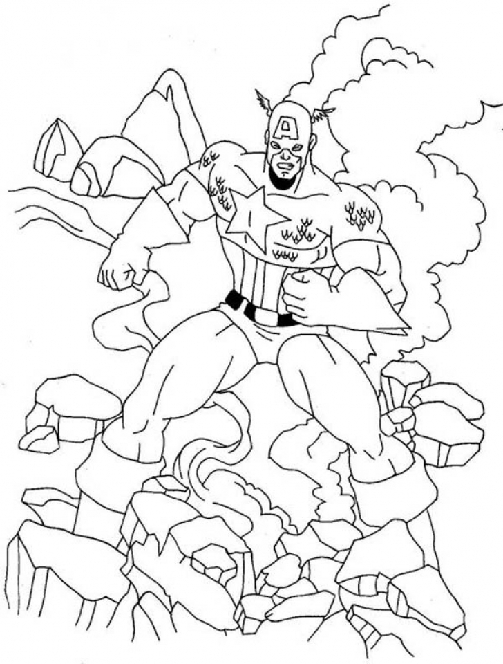 Captain America Coloring Pages Winter Soldier   10758