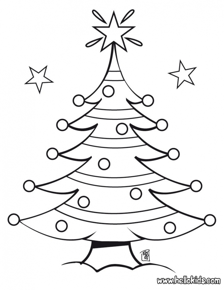 Christmas Tree Coloring Pages for Kids   15267