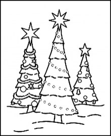 Christmas Tree Coloring Pages for Kids 28571