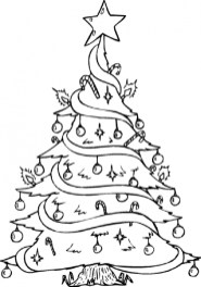 Christmas Tree Coloring Pages Free Printable 17575