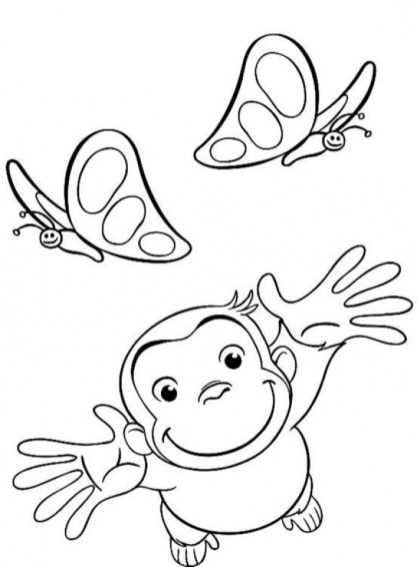 Curious George Coloring Pages for Kids 50279