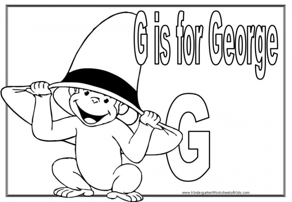 Curious George Face Coloring Pages With Cute Smile Curious George ... | 663x960