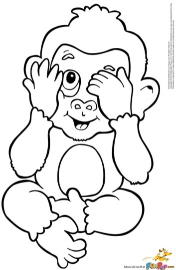 Cute Baby Monkey Coloring Pages Free to Print 40317