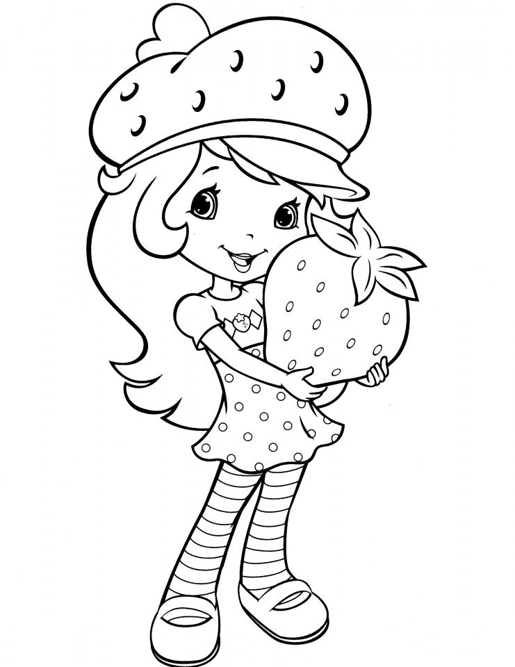 Strawberry Shortcake Coloring