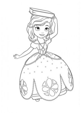 Disney Sofia the First Coloring Pages Printable 89401
