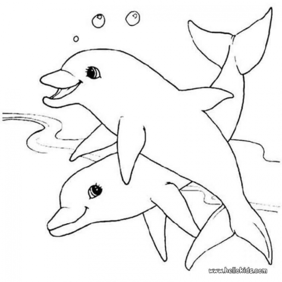 Dolphin Coloring Pages for Kids   13279