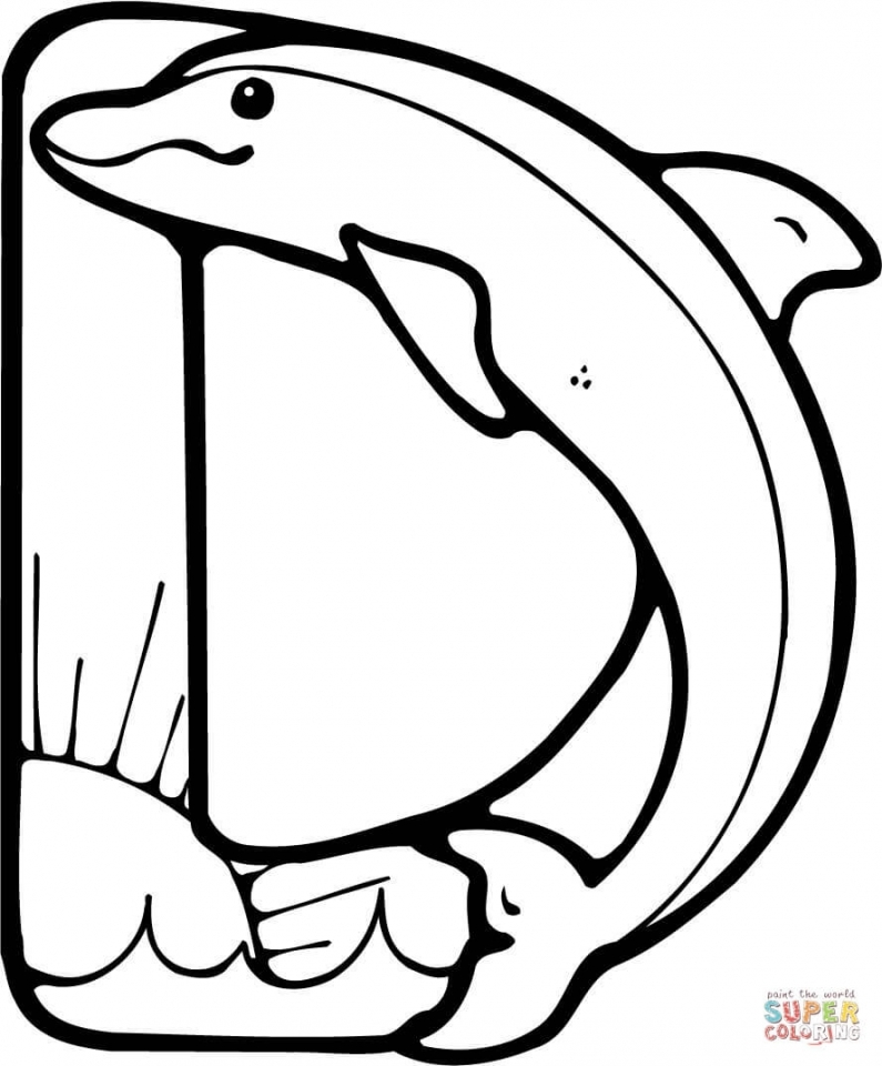 Dolphin Coloring Pages Free to Print   04925