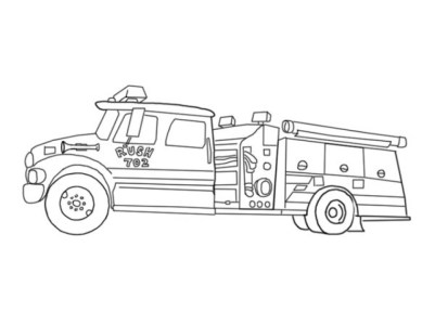 Fire Truck Coloring Pages Free to Print for Kids 20057