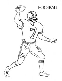 Football Player Coloring Pages Printable for Kids 25581