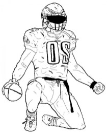 Football Player Coloring Pages to Print Online 07577