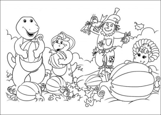 Free Barney Coloring Pages to Print for Kids 47012