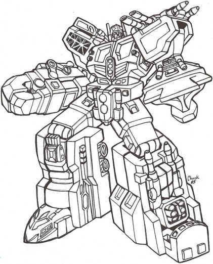 Free Boys Coloring Pages of Transformers Robot 75614