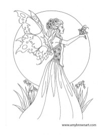 Free Fairy Coloring Pages 68110
