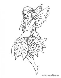 Free Fairy Coloring Pages 6987