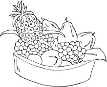 Free Fruit Coloring Pages to Print 33603